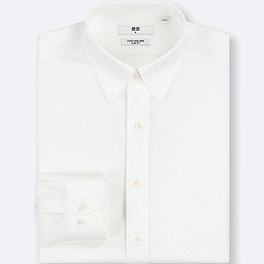 Herren Bügelfrei SLIM FIT Hemd (REGULAR COLLAR)