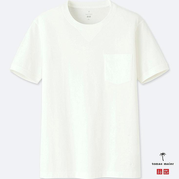 Men Tomas Maier 100% Supima Cotton Short Sleeve T Shirt by Uniqlo