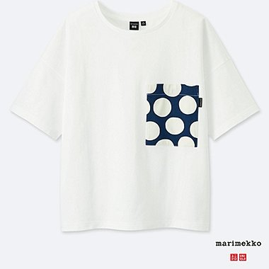 WOMEN MARIMEKKO SHORT-SLEEVE GRAPHIC T-SHIRT, WHITE, medium