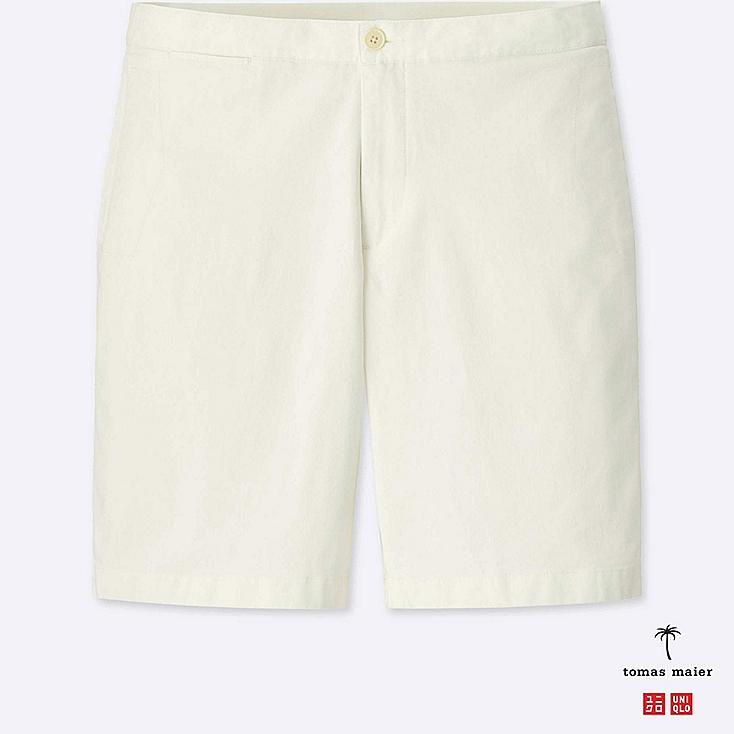 MEN RELAXED CHINO SHORTS, WHITE, large