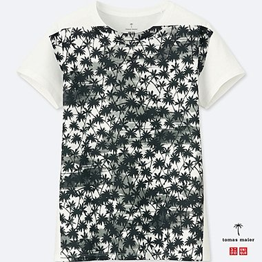 WOMEN Tomas Maier 100% COTTON SHORT SLEEVE PRINTED T-SHIRT