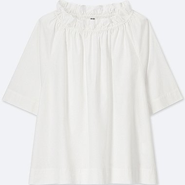 WOMEN 100% Extra Fine Cotton Half Sleeve Blouse