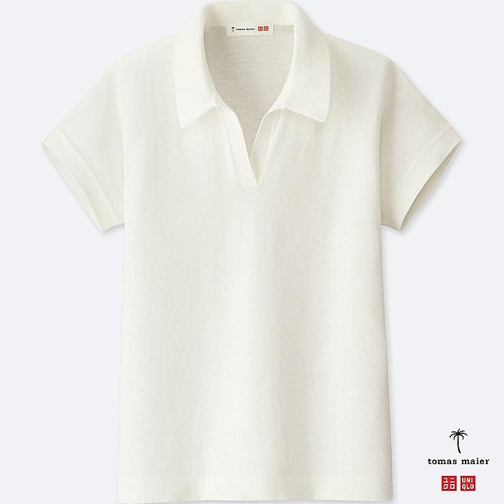 Damen Tomas Maier 100% Baumwoll Poloshirt by Uniqlo