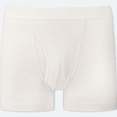 MEN SUPIMA® COTTON BOXER BRIEFS, WHITE, medium
