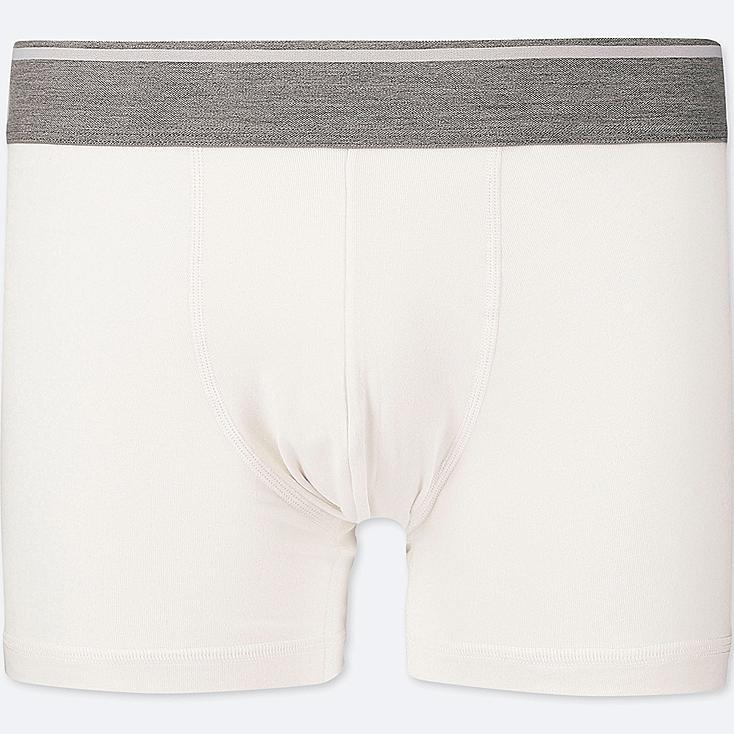MEN SUPIMA® COTTON LOW-RISE BOXER BRIEFS, WHITE, large