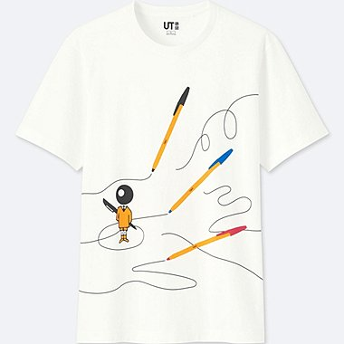 THE BRANDS SHORT-SLEEVE GRAPHIC T-SHIRT (BIC), WHITE, medium