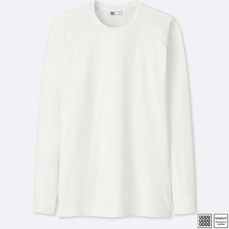 MEN UNIQLO U ULTRA STRETCH DRY CREW NECK LONG SLEEVE T-SHIRT