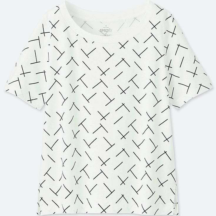 WOMEN SPRZ NY SHORT-SLEEVE GRAPHIC T-SHIRT (FRANCOIS MORELLET), WHITE, large