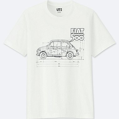 THE BRANDS SHORT-SLEEVE GRAPHIC T-SHIRT (FIAT 500), WHITE, medium