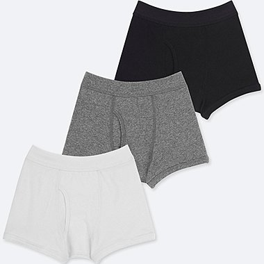 BOYS BOXER BRIEFS (SET OF 3), WHITE, medium