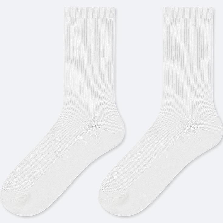 KIDS REGULAR SOCKS (SET OF 2), WHITE, large