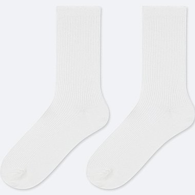 KIDS REGULAR SOCKS (SET OF 2), WHITE, medium
