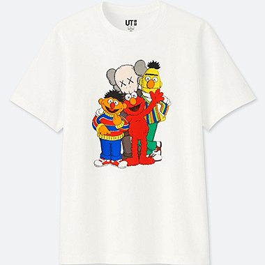 KAWS X SESAME STREET GRAPHIC T-SHIRT, WHITE, medium