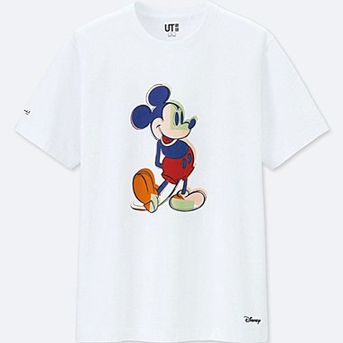 MEN MICKEY ART SHORT SLEEVED GRAPHIC T-SHIRT