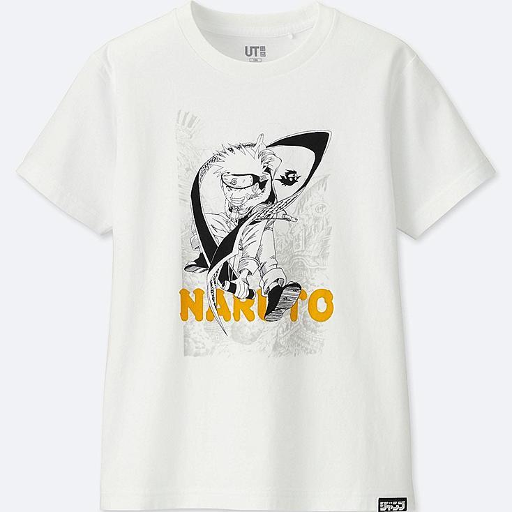 KIDS JUMP 50th UT NARUTO (SHORT-SLEEVE GRAPHIC T-SHIRT), WHITE, large