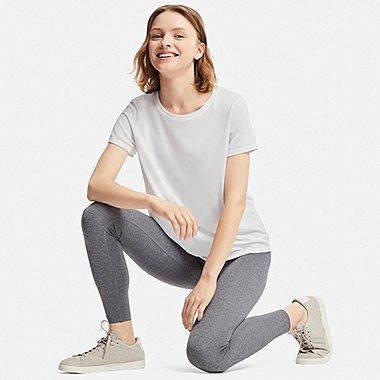 WOMEN DRY-EX CREWNECK SHORT-SLEEVE T-SHIRT, WHITE, medium