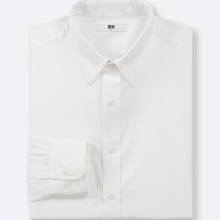 MEN EASY CARE BROADCLOTH REGULAR-FIT SHIRT (ONLINE EXCLUSIVE), WHITE, large