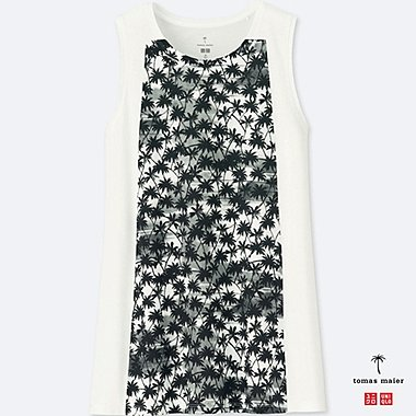 WOMEN PRINTED TANK TOP, WHITE, medium