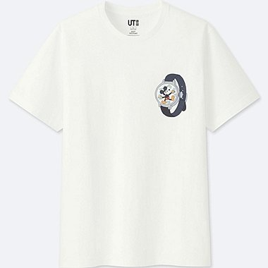 MICKEY ART SHORT-SLEEVE GRAPHIC T-SHIRT (GEOFF MCFETRIDGE), WHITE, medium