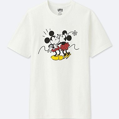 MICKEY ART UT YU NAGABA (SHORT-SLEEVE GRAPHIC T-SHIRT), WHITE, medium