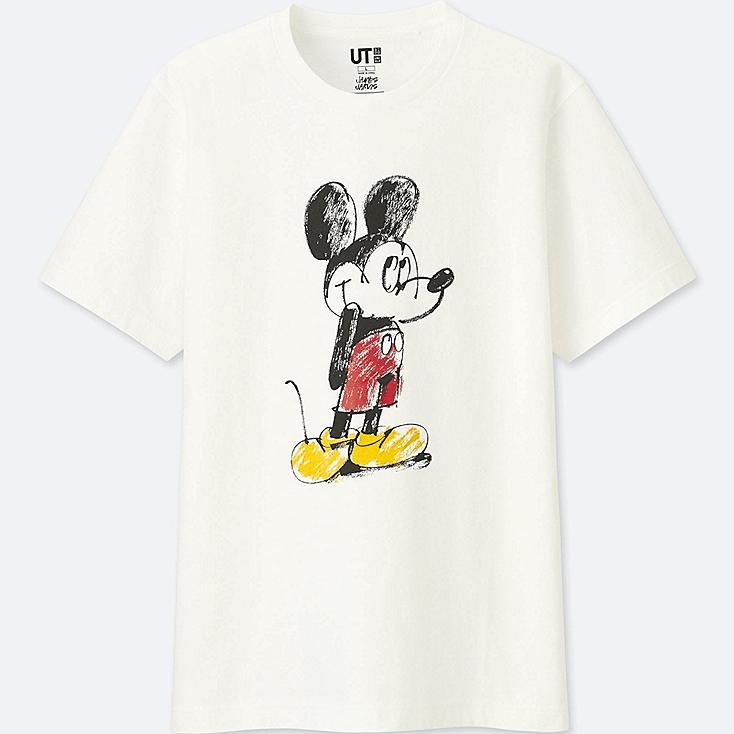 Men Mickey Art Short Sleeve Graphic T Shirt (James Jarvis) by Uniqlo