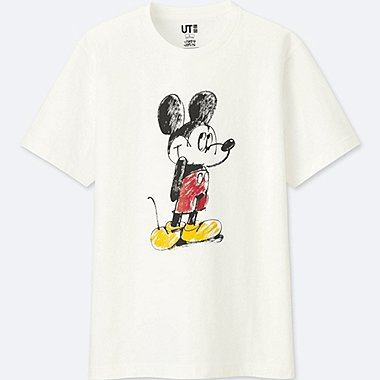 MICKEY ART SHORT-SLEEVE GRAPHIC T-SHIRT (JAMES JARVIS), WHITE, medium