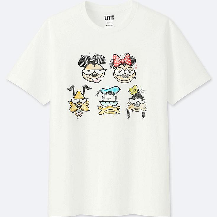 MICKEY ART SHORT-SLEEVE GRAPHIC T-SHIRT (KEVIN LYONS), WHITE, large