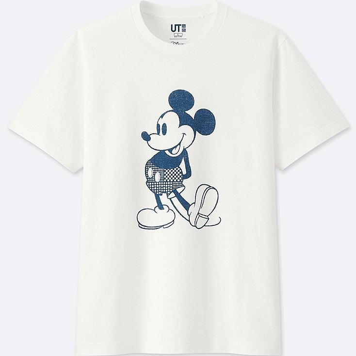 MICKEY BLUE SHORT-SLEEVE GRAPHIC T-SHIRT, WHITE, large
