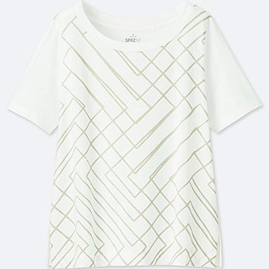 WOMEN SPRZ NY SHORT-SLEEVE GRAPHIC T-SHIRT (FRANCOIS MORELLET), WHITE, medium