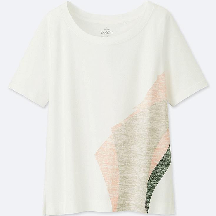 WOMEN SPRZ NY SHORT-SLEEVE GRAPHIC T-SHIRT (NIKO LUOMA), WHITE, large