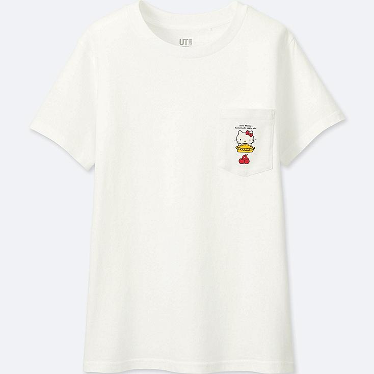 WOMEN SANRIO SHORT-SLEEVE GRAPHIC T-SHIRT, WHITE, large
