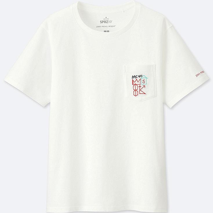 WOMEN SPRZ NY GRAPHIC T-SHIRT (JEAN-MICHEL BASQUIAT), WHITE, large