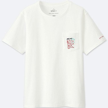 WOMEN SPRZ NY GRAPHIC T-SHIRT (JEAN-MICHEL BASQUIAT), WHITE, medium