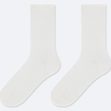 KIDS HEATTECH SOCKS (SET OF 2), WHITE, medium