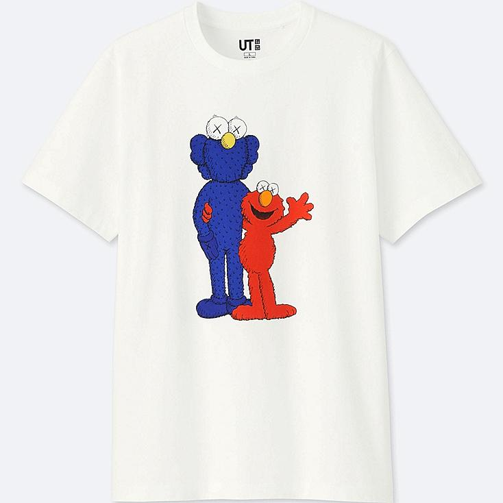 KAWS X SESAME STREET GRAPHIC T-SHIRT, WHITE, large