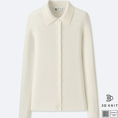 WOMEN UNIQLO U 3D EXTRA FINE MERINO KNITTED SHIRT