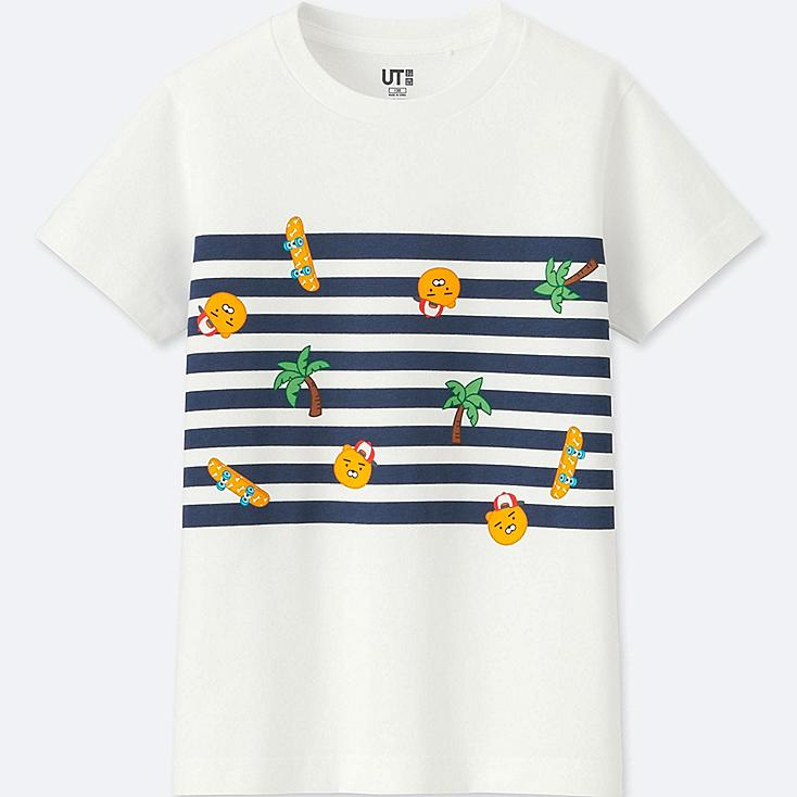 KIDS KAKAO FRIENDS SHORT-SLEEVE GRAPHIC T-SHIRT, WHITE, large