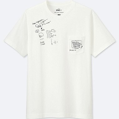 MEN SPRZ NY GRAPHIC T-SHIRT (JEAN-MICHEL BASQUIAT), WHITE, medium