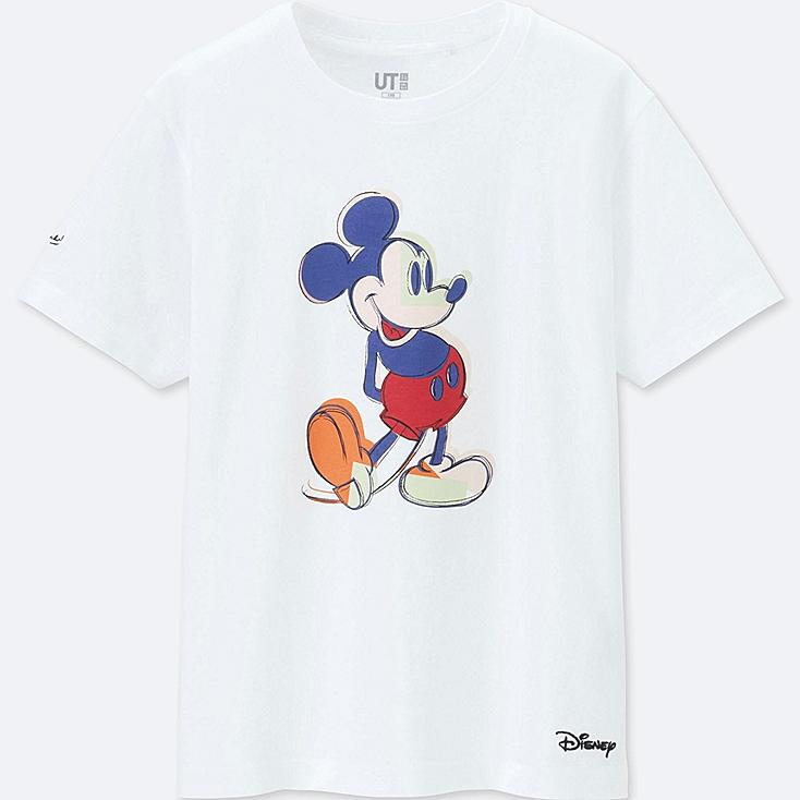 KIDS MICKEY ART SHORT-SLEEVE GRAPHIC T-SHIRT (ANDY WARHOL), WHITE, large