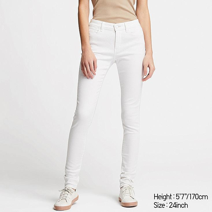WOMEN ULTRA STRETCH JEANS, WHITE, large