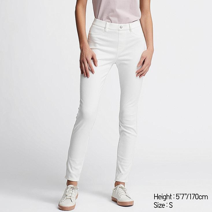 WOMEN ULTRA STRETCH LEGGINGS PANTS, WHITE, large