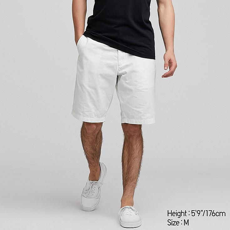 MEN CHINO SHORTS, WHITE, large