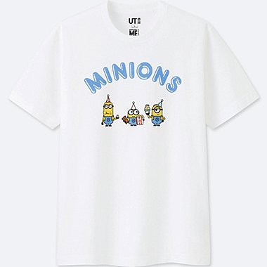 MEN MINIONS SHORT-SLEEVE GRAPHIC T-SHIRT, WHITE, medium