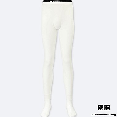 MEN HEATTECH EXTRA WARM LONG JOHNS (ALEXANDER WANG), WHITE, medium
