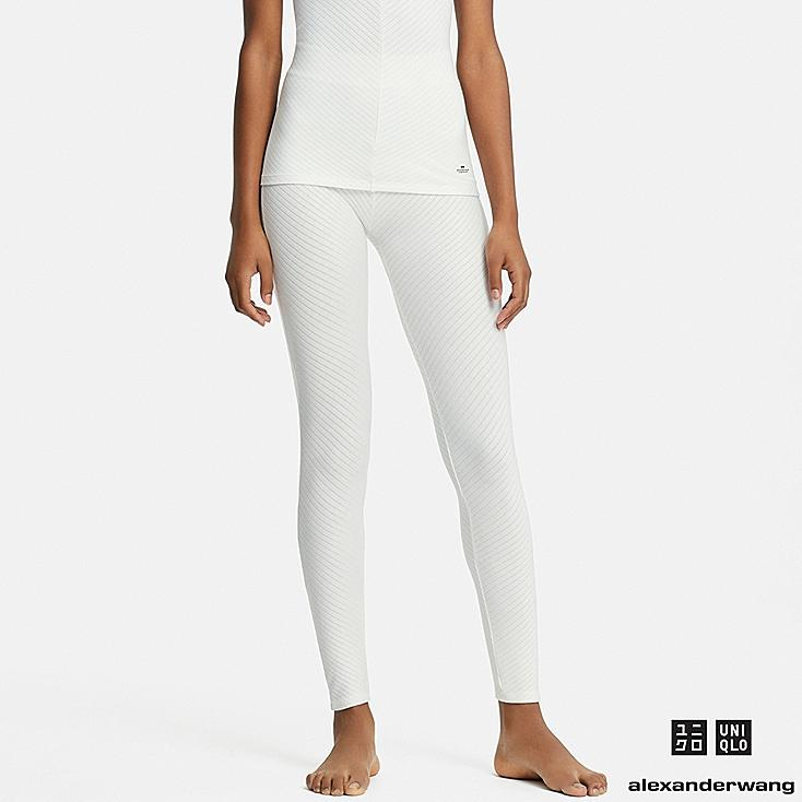 WOMEN HEATTECH EXTRA WARM LEGGINGS (ALEXANDER WANG), WHITE, large