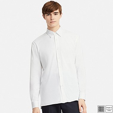 MEN U SUPIMA® COTTON JERSEY LONG-SLEEVE SHIRT, WHITE, medium