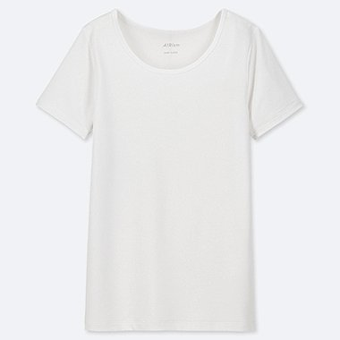 KIDS UNIQLO U AIRISM U-NECK SHORT SLEEVED T-SHIRT