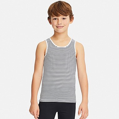 KIDS AIRISM STRIPED VEST TOP
