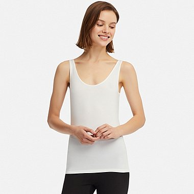 WOMEN AIRISM SCOOP NECK SLEEVELESS VEST TOP