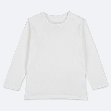 TODDLER CREW NECK LONG-SLEEVE T-SHIRT, WHITE, medium